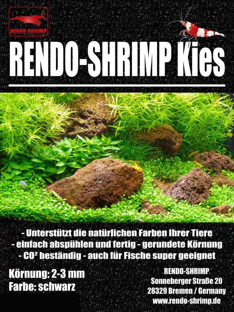 rendo shrimp kies schwarz 10 kg aquarienkies g nstig kaufen. Black Bedroom Furniture Sets. Home Design Ideas